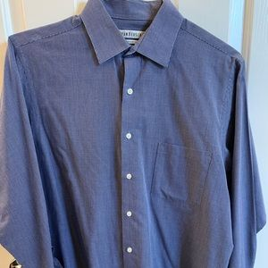 🍏 5 for $30 Van Heusen formal Dress shirt blue 16